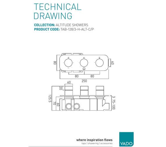 Technical drawing QS-V74509 / TAB-128/3-H-ALT-C/P