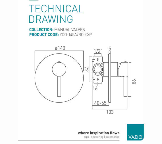 Technical drawing QS-V37215 / ZOO-145A/RO-C/P