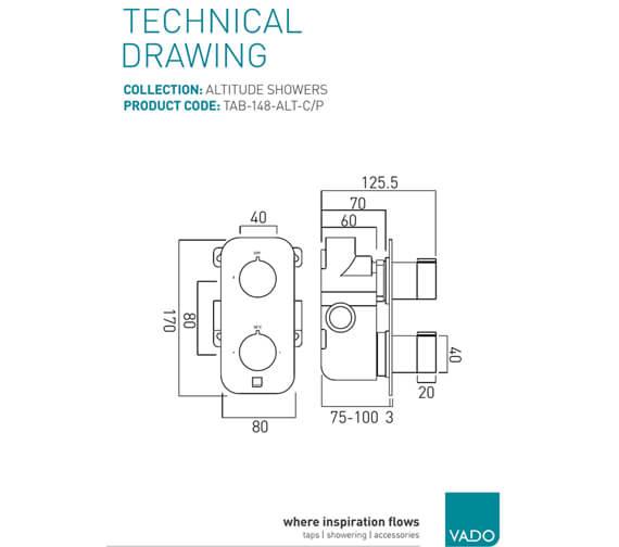 Technical drawing QS-V76644 / TAB-148-ALT-C/P