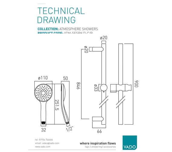 Technical drawing QS-V58864 / ATM-SFSRK/2-C/P