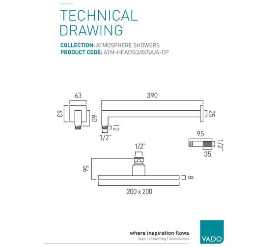 Technical drawing QS-V58866 / ATM-HEADSQ/B/SA/A-CP