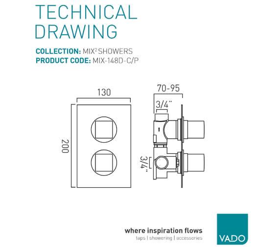 Technical drawing QS-V37089 / MIX-148D-C/P