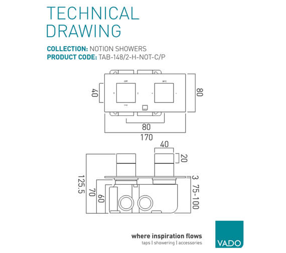Technical drawing QS-V83528 / TAB-148/2-H-NOT-C/P