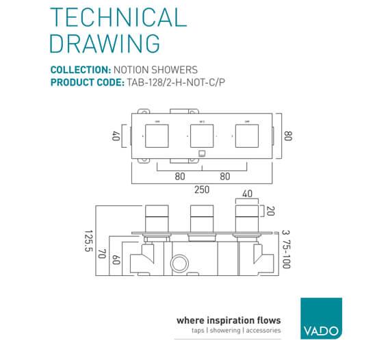 Technical drawing QS-V74586 / TAB-128/2-H-NOT-C/P