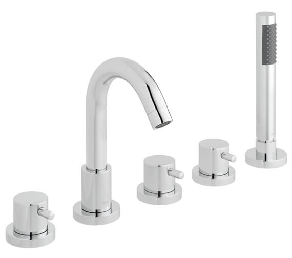 Vado Zoo 5 Hole Deck Mounted Bath Shower Mixer Tap