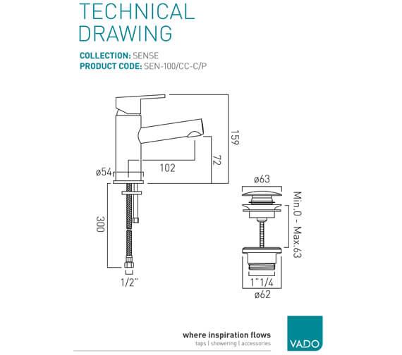 Technical drawing QS-V37132 / SEN-100F/SB-C/P