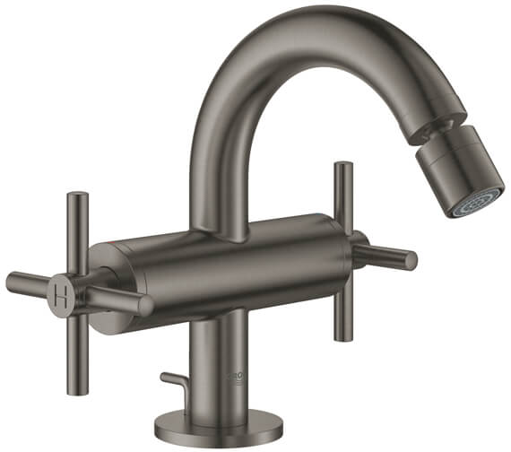 Additional image of Grohe Atrio M-Size Bidet Mixer Tap With Pop-Up Waste