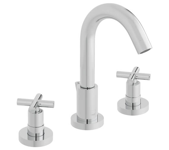 Vado Elements Water Deck Mounted 3 Hole Basin Mixer Tap - ELW-101
