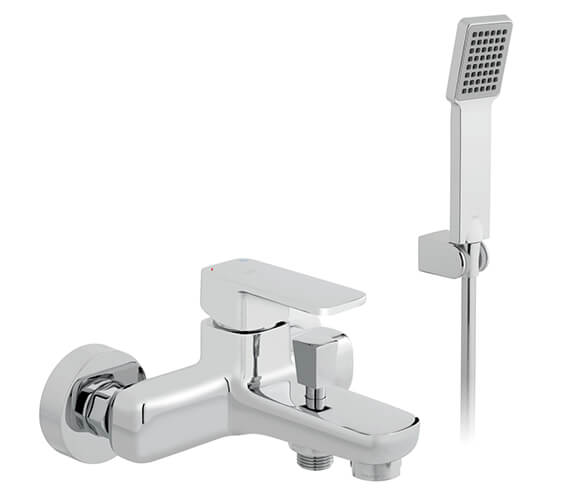 Vado Phase Exposed Bath Shower Mixer Tap With Shower Kit