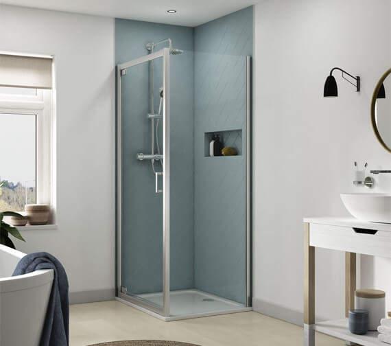 Alternate image of Aqualux Origin 900mm Pivot Shower Door