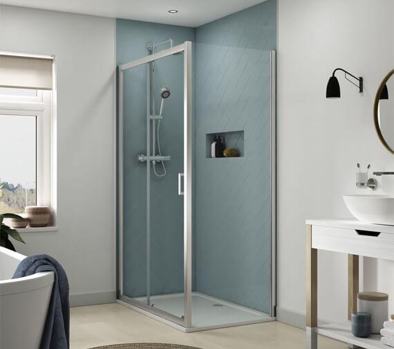 Alternate image of Aqualux Origin 1200mm Sliding Shower Door