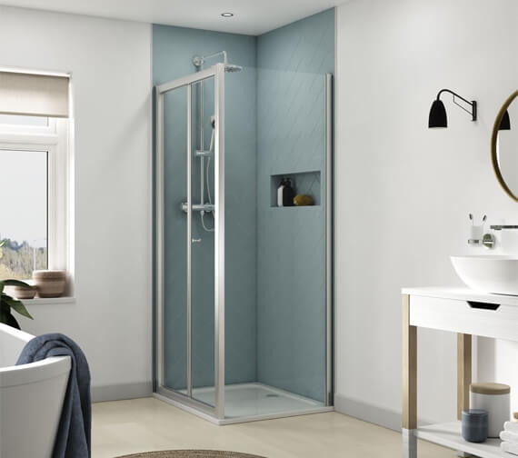 Aqualux Origin 800mm Bi Fold Shower Door 1192603