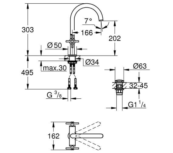 Technical drawing QS-V80912 / 21019003