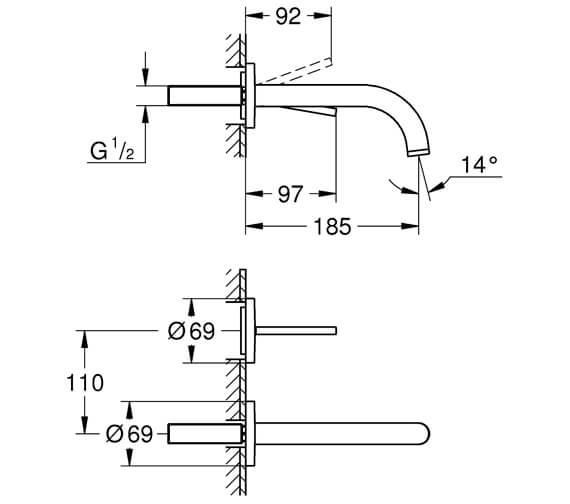 Technical drawing QS-V88916 / 19287003