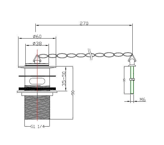 Technical drawing QS-V60862 / THC10