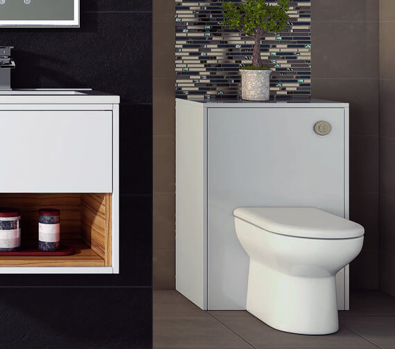 Hudson Reed Coast 600 x 225mm WC Unit Gloss White And Coco Bolo