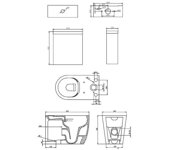Technical drawing QS-V88908 / 66070