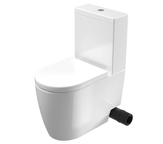 Additional image of Saneux Uni Close Coupled WC Pan With Cistern