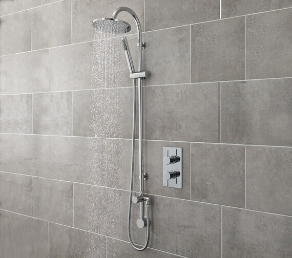 Hudson Reed Destiny Shower Kit With Concealed Oulet Elbow And Diverter