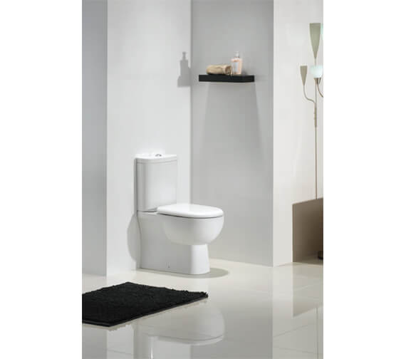 RAK Tonique Close Coupled Back-To-Wall WC Pack With Soft Close Seat