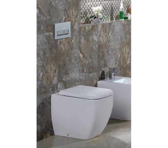 RAK Metropolitan Back To Wall WC Pan With Soft-Close Seat 525mm