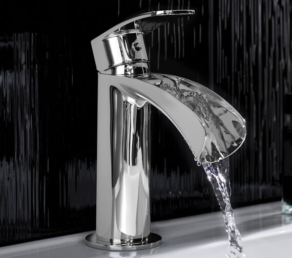 Hudson Reed Reign Mono Basin Mixer Tap Chrome With Waste