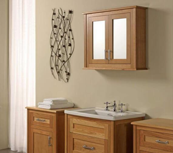 Imperial Thurlestone 2 Wood-Mirror Glass Door Wall Cabinet
