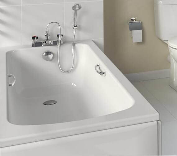 Armitage Shanks Sandringham 21 Deep Bath With Handgrips 1700 x 700mm