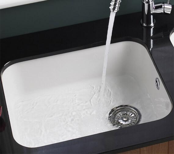 Astracast Lincoln 5040 Main Bowl Ceramic Gloss White Undermount Sink - LNS3WHHOMESK