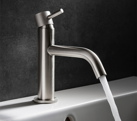 Crosswater MPRO Chrome Monobloc Basin Mixer Tap Knurled Effect