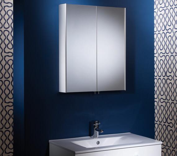 Tavistock Move Large Double Mirror Door Aluminium Cabinet