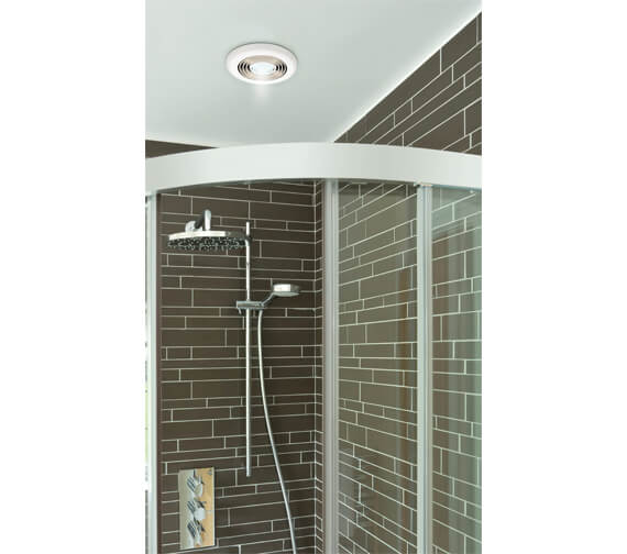 Alternate image of HIB Turbo Bathroom Inline Illuminated White Extractor Fan