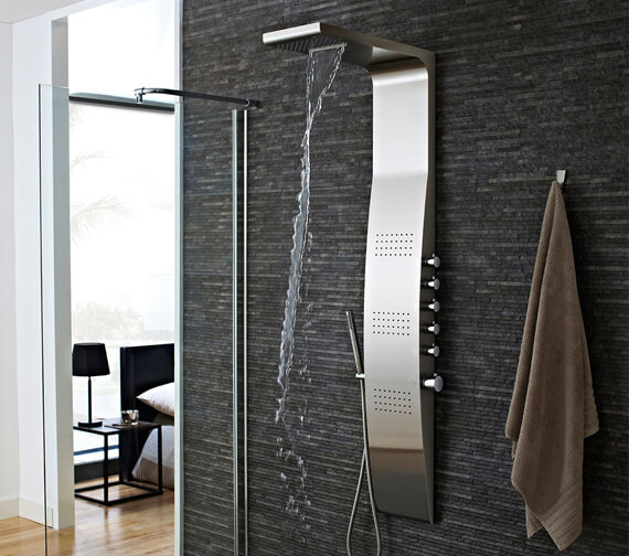 Hudson Reed Surface Stainless Steel Thermostatic Shower Panel