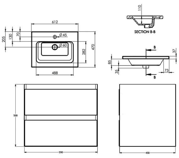 Technical drawing QS-V80993 / UF001