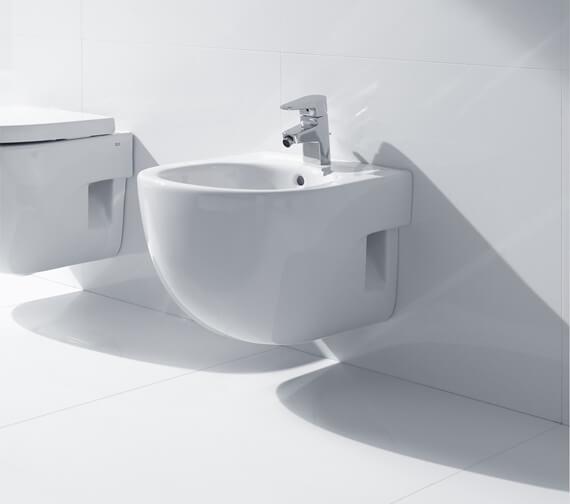 Roca Meridian-N Compact Wall Hung Bidet - 357246000