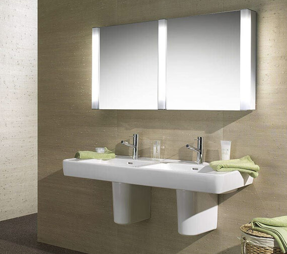 Schneider Pepline 2 Door Mirror Cabinet 1300mm
