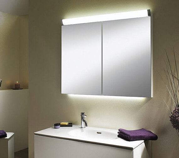 Schneider Paliline 2 Door 760mm Height Mirror Cabinet With LED Light