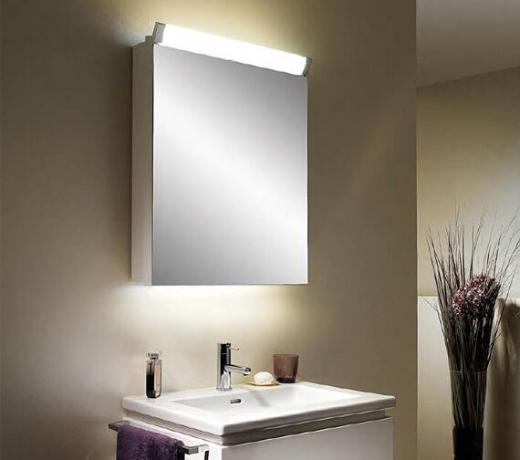 Schneider Paliline 1 Door 760mm Height Mirror Cabinet With LED Light