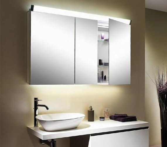 Schneider Paliline 3 Door Mirror Cabinet With LED Light