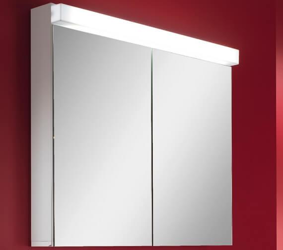 Schneider Lowline 2 Door Mirror Cabinet With LED Light