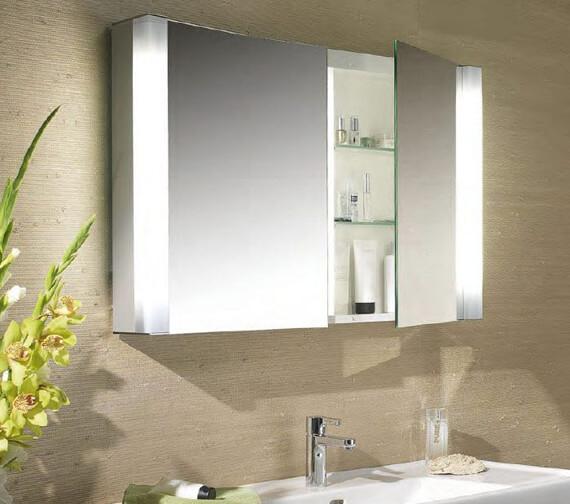Schneider Pepline 1 Door Mirror Cabinet 600mm
