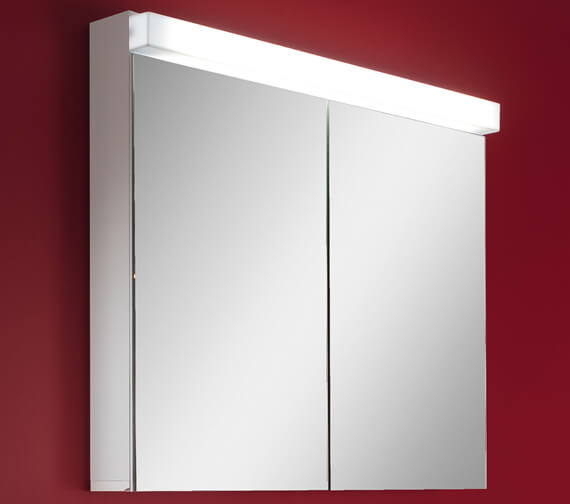 Schneider Lowline 2 Door Mirror Cabinet With Fluorescent Lighting