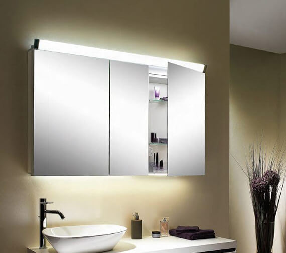 Schneider Paliline 3 Door 100cm  Mirror Cabinet With LED Light