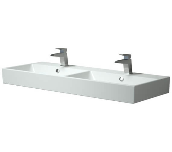 Saneux Quadro 1200mm Double Bowl Washbasin
