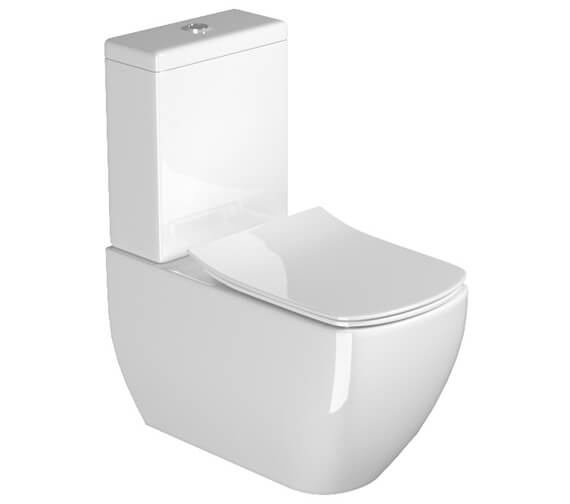 Saneux Indigo Art Close Coupled Wc Pan With Cistern And Soft Close Seat