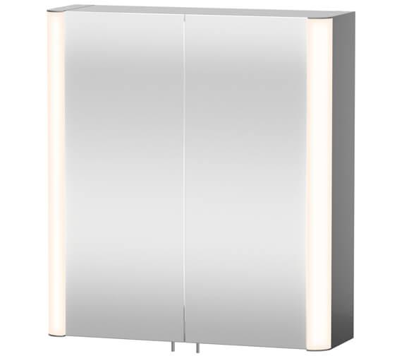 Duravit Aluminium White 660mm Height Mirror Cabinet