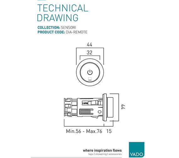 Technical drawing QS-V99506 / DIA-REMOTE