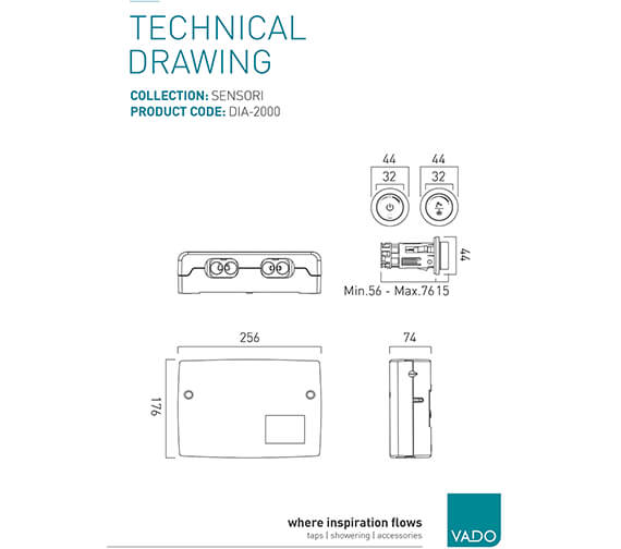 Technical drawing QS-V99504 / DIA-2000