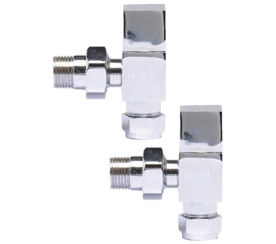 Premier Chrome Pair Of Angled Radiator Valve