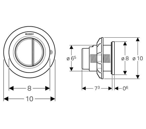 Technical drawing QS-V51839 / 116.050.11.1